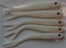 Lot de 5 leurres souples 10cm 4,5g Minnow Blanc Yeux Rouges