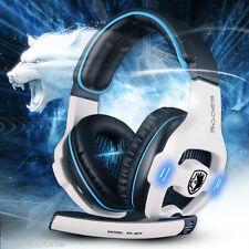 Sades SA-903 7.1 Surround Sound Gaming Headset Headband Bass USB For PC PS4 +MIC