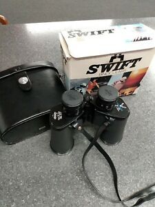 Vintage Binoculars w/Case - Swift Nighthawk Mod #771 - 8x40 Extra Wide -EXC Cond