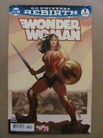 Wonder Woman #1 DC Comics Rebirth 2016 Series Variant 9.6 Near Mint+