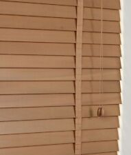50mm Slat Real Hard Wood Venetian blind 105cm wide x 160cm OAK with Tapes