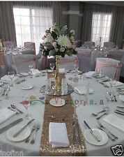 """New Champagne Select Sequin Table Runner 12""""x72"""" Sparkly For Wedding Party Decor"""