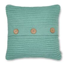 Catherine Lansfield Chunky Knit Cushion Cover Duck Egg 45x45cm