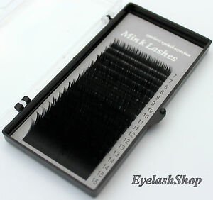 2D 3D 4D Volumentechnik B Curl 0,07 0,10 Mix 7-15mm Mink Lashes Nerzwimpern Silk