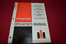International Harvester 9 Peg Tooth 10 Coil Tine Harrow Operators Manual GDSD