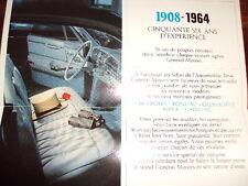 Catalogue GM FRANCE 1964 CHEVROLET BUICK CADILLAC PONTIAC OLDSMOBILE