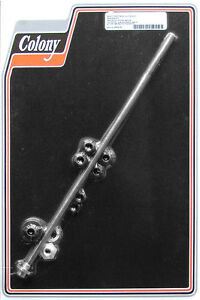 """Harley 36-80 BT Seat Post Rod, Nuts and Spacers Kit 15-7/8"""" Rod Colony 2612-10"""