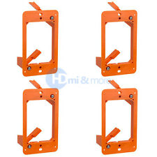 4x Low Voltage 1 Gang Bracket Mount Multipurpose DryWall Mounting Wall Plate