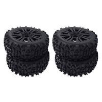 Set of 4 Tires Crawler Climbing Black 1/8 RC Truggy Truck DIY Accessory