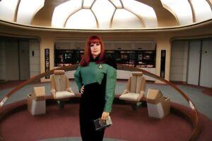 Star Trek The Next Generation Custom Jumpsuit Costume Science Uniform Womens M/L