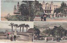 Monte Carlo lot 4 CPA 1904 Berlioz terrasses Theatre casino Monaco 1702214