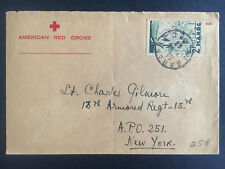 1943 Rabat Morocco American Red Cross Cover to US Army Soldier APO 251 18th Armo