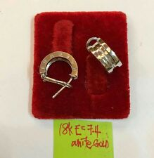 Gold Authentic 18k saudi  white gold earrings.