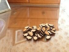 50x20mm MDF Laser Cut Christmas Tree Shapes