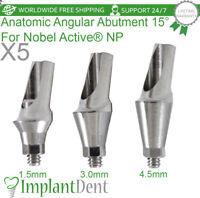 5 Anatomic Angular Abutment 15° For Nobel Biocare, Active Hex NP, Dental Implant