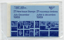Weeda Canada 1989 July-December Semi-Annual Pack, sealed! Face value $8.37
