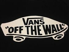 Vans Off The Wall small black T-Shirt Skateboard Skate Shoes