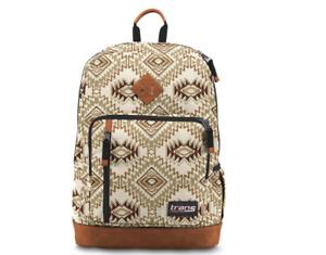 "Trans by JanSport 18"" Dakoda Backpack - Soft Tan Southwest - New w/ Tags"