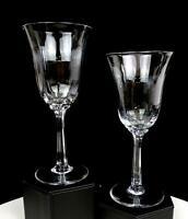"""LENOX CRYSTAL ALLURE PANEL OPTIC 2 PIECE 6 5/8"""" WINE GLASSES 1975-1993"""