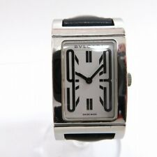 Vintage Bvlgari Rettangolo RT39S Ladies Quartz Watch - White Dial, Leather Belt