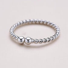 Solid Sterling Silver 925 Adjustable Open Band Thumb Ring Lady Gift Finger