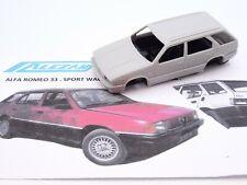 ALEZAN MODELS . KIT 1/43 . ALFA ROMEO 33 SPORT WAGON . 4x4 . JANTES BBS . 1988 .