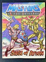 Vintage MOTU Masters of the Universe 1984 Siege of Avion Mini Comic - Insert
