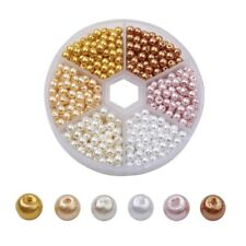 Glass Pearl Bead Sets Pearlized Round Mixed Color DIY Craft 4mm 800pcs/box