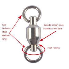 35x Stainless Steel Ball Bearing Swivels Rolling Barrel Swivel Quick Swivels