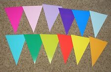 """Teacher Resource: 12 Large Color Pennant Bulletin Board Accents / Cut-outs - 7"""""""