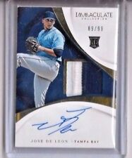 2017 Immaculate Jose De Leon RC 2-Color Patch/Auto #89/99 Tampa Bay Rays