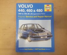 VOLVO 440 460 & 480 HAYNES MANUAL 1987 to 1992 (D to K reg) SALOON COUPE TURBO