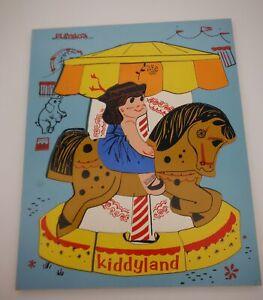 PlaysKool  Jigsaw wood Puzzle 360-27 Carousel   70's