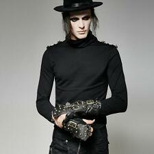 Punk Rave Men's Gothic Goth Steampunk Rock Military Cosplay Wristcuff Glove