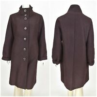 Womens Marimekko Vintage Coat Jacket Wool & Mohair Button Size 42 / UK14