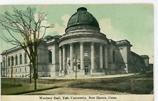 "NEW HAVEN CONNECTICUT CT ""YALE UNIVERSITY WOOLSEY HALL"" UNUSED DIVIDED POSTCARD"
