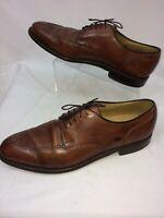 Men's Johnston & Murphy shoes Brown leather Split Toe Oxfords Lace Up Sz 12 B/AA