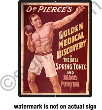 DR. PIERCE'S AD, REPRODUCTION /  SIGNS, MEDICINE AD, DOCTOR SIGNS / OFFICE DECOR