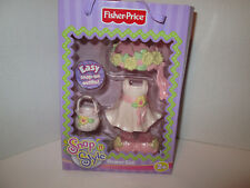 Fisher Price Snap n Style Doll Flower Girl Clothes Outfit Set Spring Dress NEW