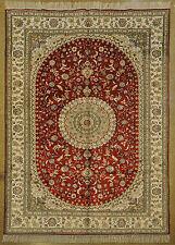 Antique Design Rug Transcendent Handmade Rug 6' X 9' Silk Red