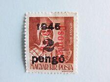 (ungherese Magyar Kir Posta) con due SOVRASTAMPE intorno al 1945