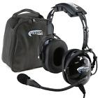 Rugged Air RA200 General Aviation Pilot Headset GA Dual Plugs w/ MP3 Music Input