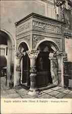 Vintage Postcard ~1910 Pulpito della Chiesa di Popiglio Montagna Pistolese Italy