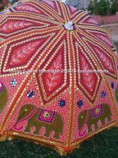 Indian Elephant Garden Umbrella, Handmade Big Parasols Outdoor Patio Decorative