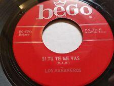 """LOS MANANEROS - Si Tu Te Me Vas / Despricio Tus Besos BEGO RANCHERA 7"""""""