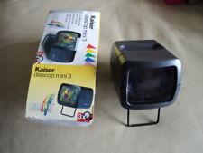 Kaiser Diascop Mini 3 Slide Viewer Working With 2 AA Batteries