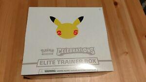 Pokemon 25th Anniversary TCG Celebrations Elite Trainer Box BRAND NEW SEALED