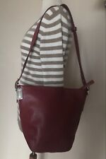 COACH Red Leather Classic Bucket Bag Tote Shoulder Bag