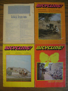 Bicycling Magazines 1971 vintage very rare Lot of 4