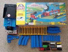 TOMY GIANT THOMAS SET Blue Tracks Motorized Trains RARE!!! Trackmaster Tomica